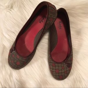 Keds Printed Flats Shoes Size 7